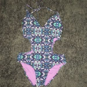 Jessica Simpson one piece cut out bathing suit